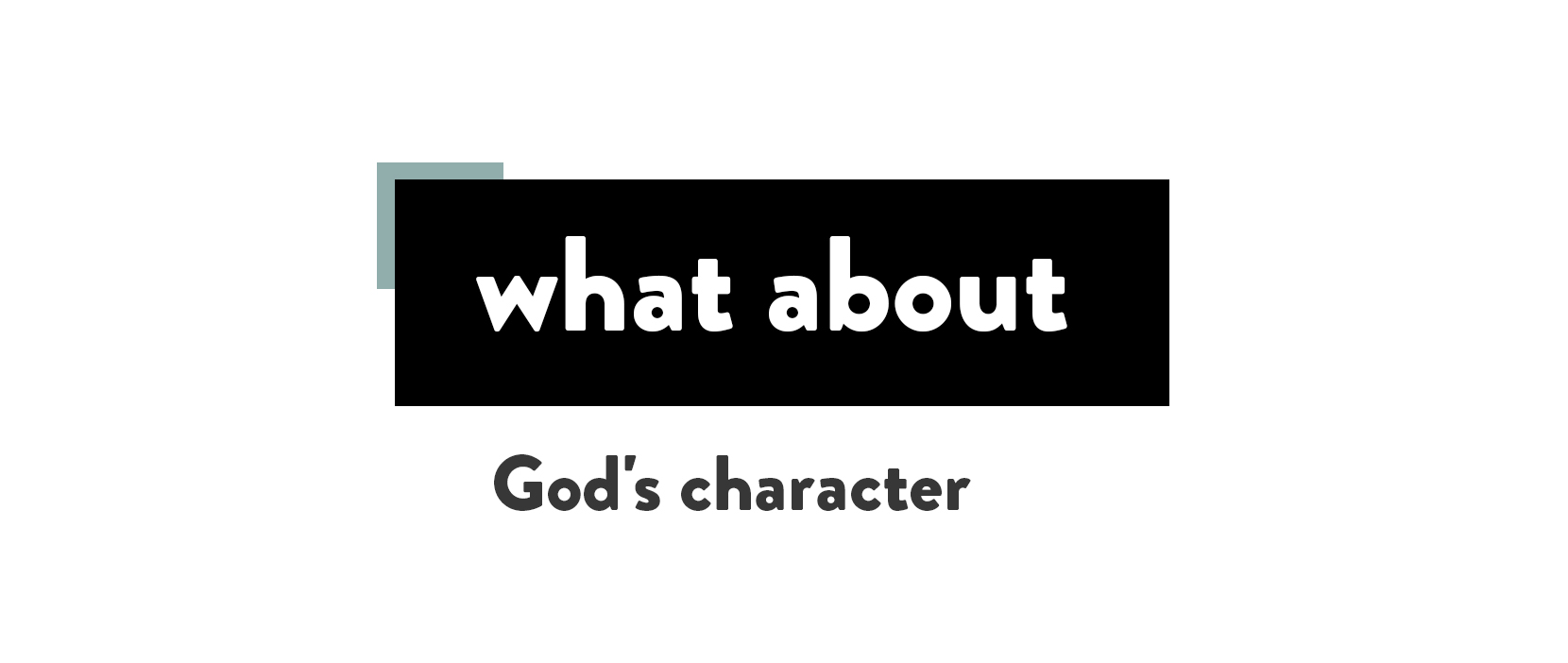 Main image for God's Character