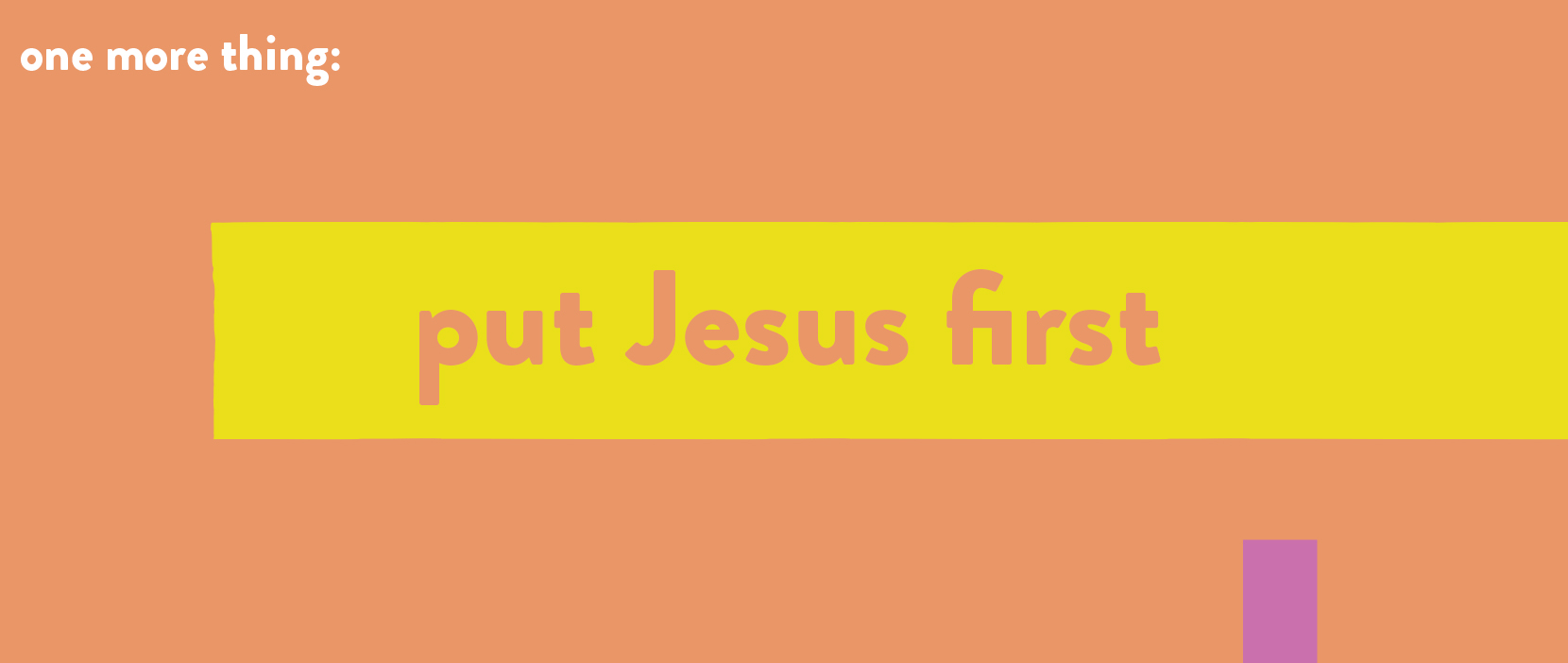 Main image for Put Jesus First